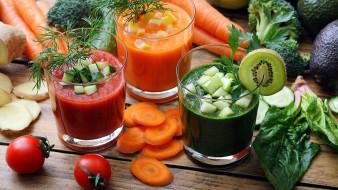 еда, напитки,  сок, соки, ассорти, помидоры, морковь