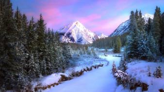 природа, зима, горы