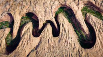 природа, реки, озера, meandering, canyon, река, горы