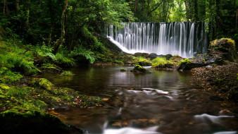 природа, водопады, потоки