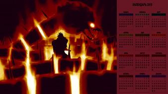 календари, аниме, существо