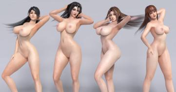 эро-графика, 3д-эротика, грудь, фон, взгляд, девушки