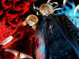 аниме, hellsing, вампир, victoria, seras, wolfe, vampire, девушка, heinkel