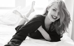 черно-белая, актриса, улыбка