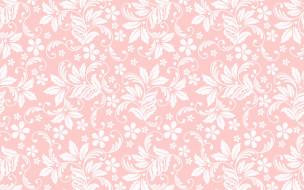 розовый фон, бесшовный, цветочный орнамент, текстура