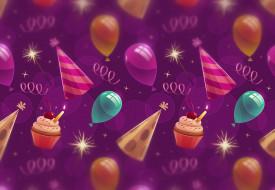 background, фон, капкейки, Birthday, текстура, balloons, кексы