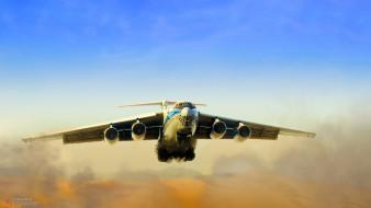 wallhaven, военный самолет, транспортник, ильюшин ил-76