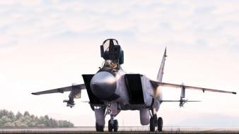 реактивный истребитель, аэродром, миг-31б, wallhaven, военные самолеты