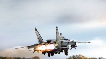 истребитель-перехватчик, миг-31, военная авиация, сопла, дальний радиус действия, ввс россии