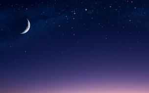 космос, луна, небо