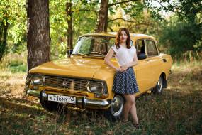 девушка, автомобиль, Москвич- 412