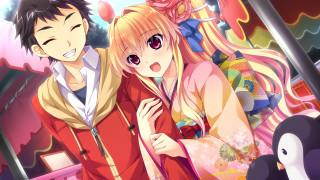 аниме, baka to test to shoukanjuu, девушка, взгляд, фон
