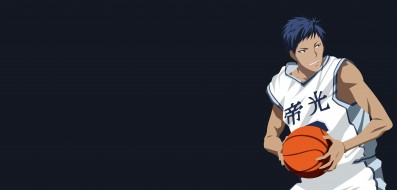 аниме, kuroko no baske, мяч, фон, взгляд, парень