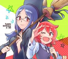 аниме, little witch academia, девушки