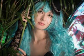 наряд, девушка, cosplay, взгляд