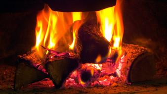 пламя, костер