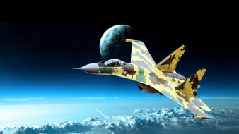истребитель, стратосфера, военная авиация, су35, камуфляж