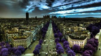 франция, города, париж, улица, фотоэффекты