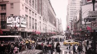 улица, здания, толпа, люди, перекресток, дома