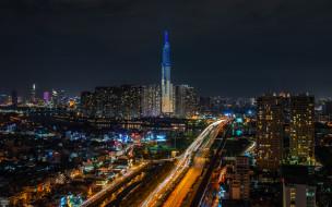 Saigon обои для рабочего стола 2048x1280 saigon, города, - огни ночного города, простор