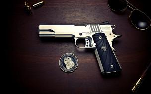 оружие, пистолеты, glasses, colt, bullets, gun, officer's, pistol, 1911