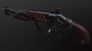 рендеринг, sawn-off shotgun, бенели, weapon, render, обрез, gun, оружие, beneli, shotgun, дробовик