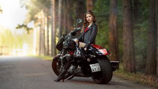 мотоциклы, мото с девушкой, модель, женщины, на, открытом, воздухе, брюнетка, кожаные, куртки, лучи, солнца, bootst, мотоцикл, wallhaven, глубина, резкости, дорога