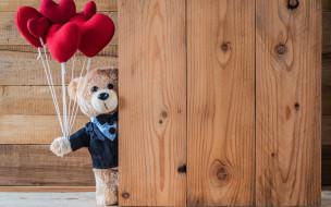 wood, romantic, teddy, gift, cute, медведь, сердечки, red, love, bear, heart, сердце, игрушка, любовь