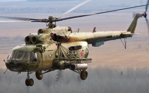 ввс россии, военная авиация, транспортный вертолет, ми-17