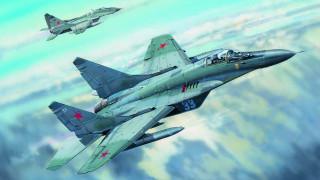 wallhaven, рисунок, истребитель, artwork, МиГ 29, военные самолеты