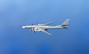 Медведь, Бомбардировщик, ВВС, Самолет, Bear, Туполев, Самолёт, Ту-95МС, Авиация, Россия, СССР