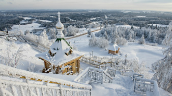 города, - православные церкви,  монастыри, панорама, зима, вид, храм, лестница