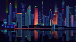 город, дома