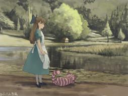 аниме, alice in wonderland, живопись