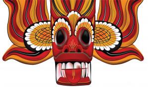 демон, маска