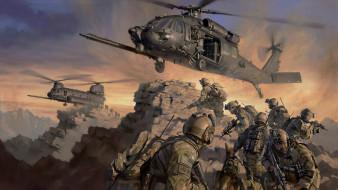 Sine Pari, special forces, эвакуация, спецназ, вертолёты
