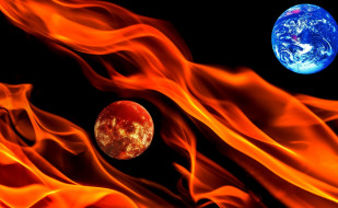 огонь, космос, планеты