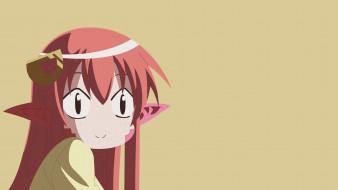аниме, monster musume no iru nichijou, фон, девушка, взгляд