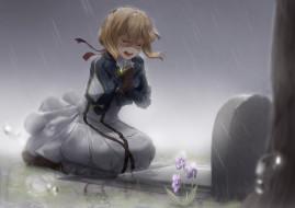 обои для рабочего стола 3508x2480 аниме, violet evergarden, девушка