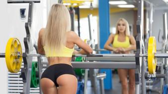 отражение, Stas Tolstnev, модель, Девушка, фитнес, попа, Nastya Ferz
