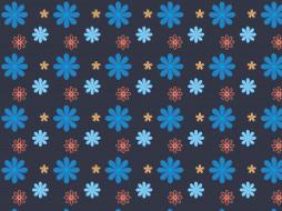цветы, синий, текстура, фон, дизайн