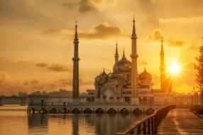 crystal mosque, города, - мечети,  медресе, простор, религия, ислам