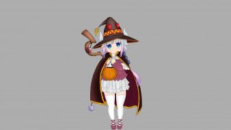 аниме, kobayashi-san chi no maid dragon, фон, взгляд, девушка