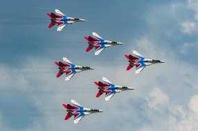 авиация, боевые самолёты, пилотажная, группа, многоцелевой, истребитель, миг-29