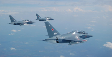 Як-130, авиация, боевые самолёты, окб, яковлева, небо, як130, группа, учебно-боевой, самолет