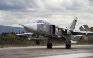 ввс россии, тактический, посадка, фронтовой бомбардировщик, аэродром, су24