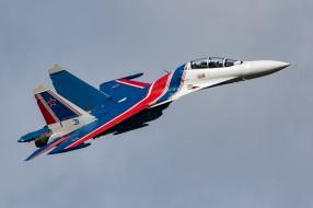 авиация, боевые самолёты, пилотажная, группа, русские, витязи, su-30sm, су-30см, многоцелевой, истребитель