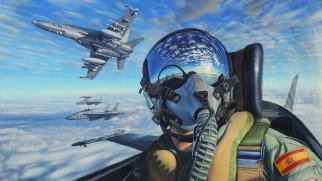 истребитель, кабина, пилот, военная авиация