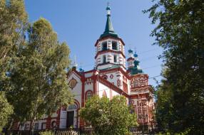 Крестовоздвиженская церковь, храм, Россия, православие, Иркутск