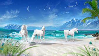 лошади, горы